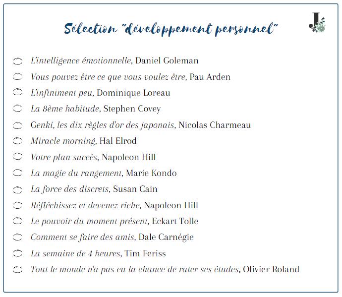 Sélection de livres de développement personnel