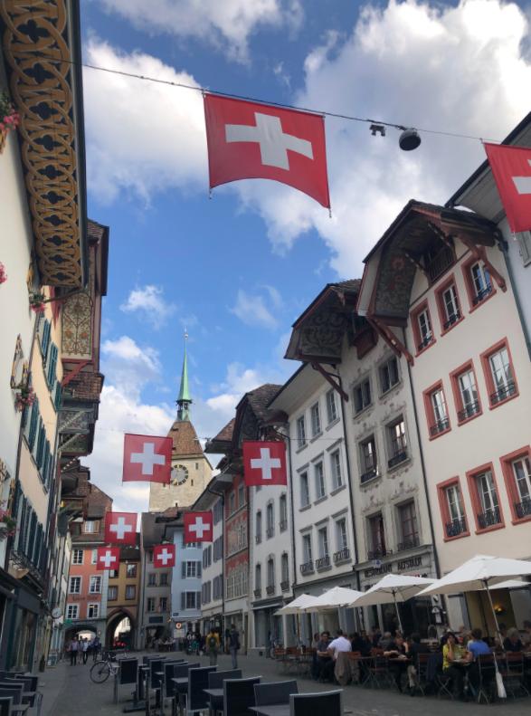 Le centre-ville de Aarau