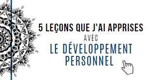 5 leçons que j'ai apprises avec le développement personnel