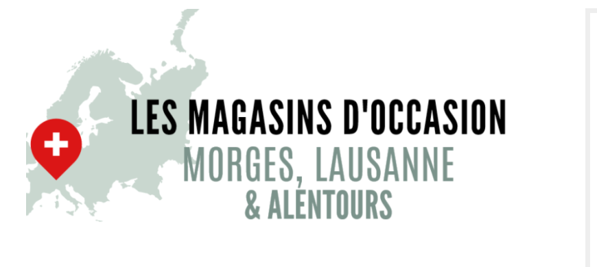 Magasins d'occasion 1